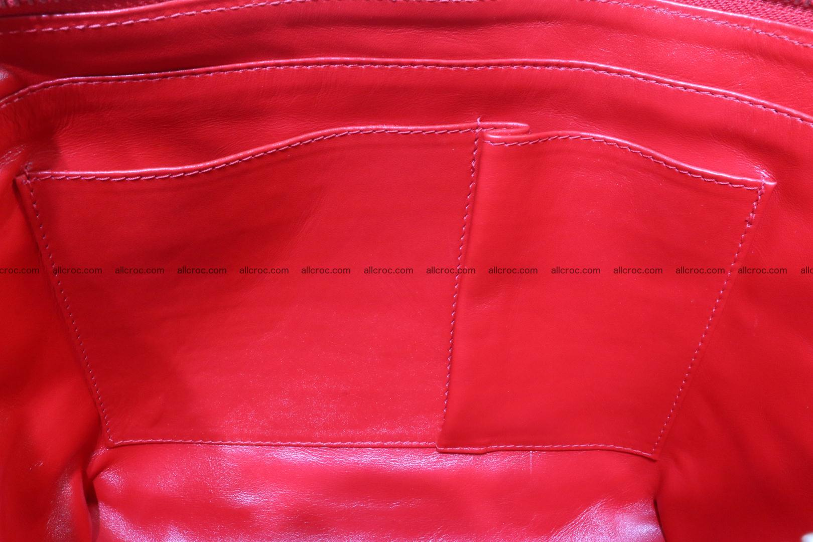 Genuine crocodile women's handbag 052 Foto 14