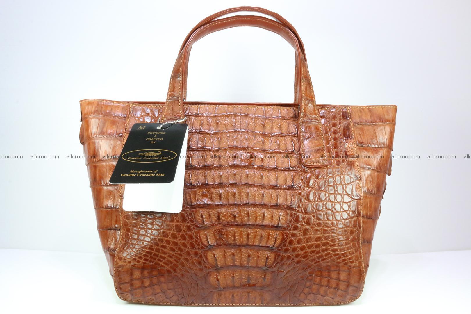Genuine crocodile women's handbag 053 Foto 2