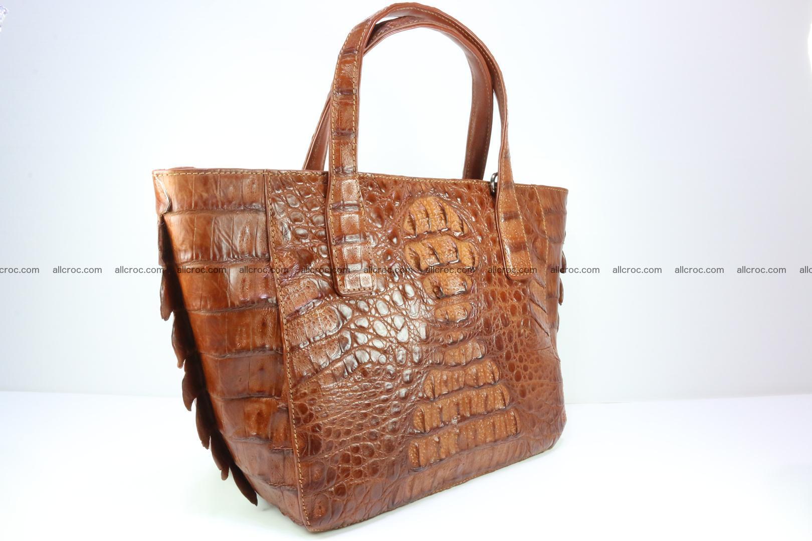 Genuine crocodile women's handbag 053 Foto 1