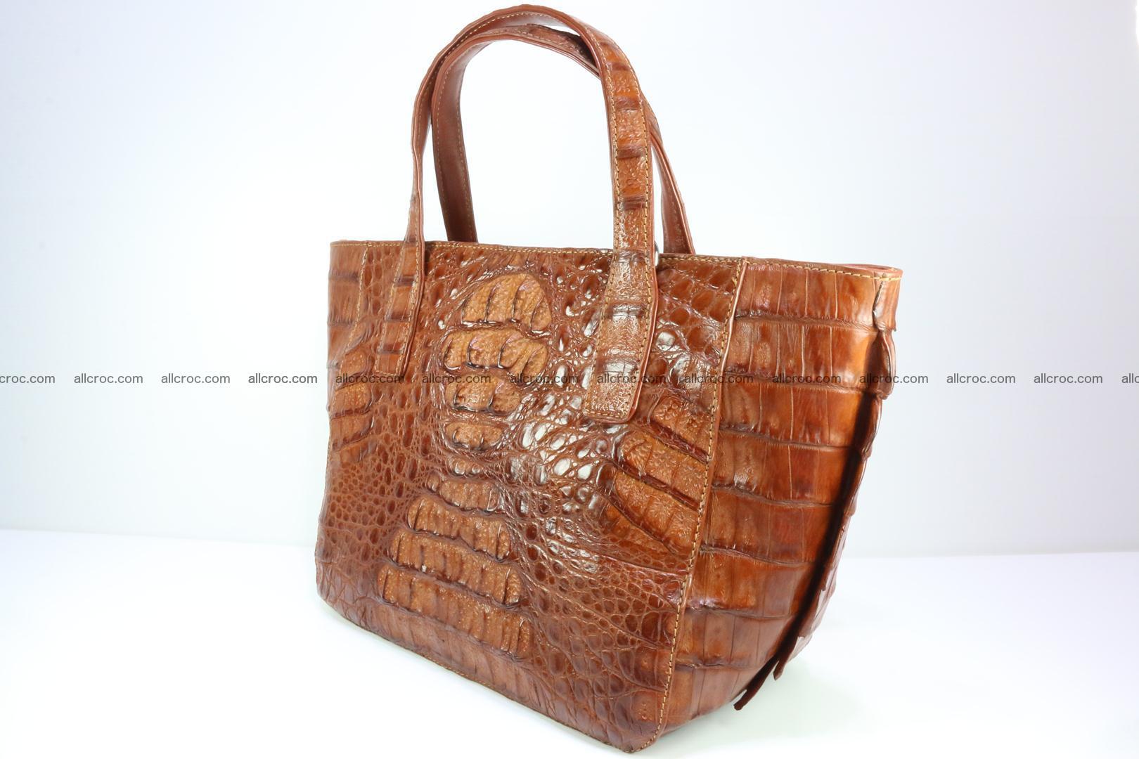 Genuine crocodile women's handbag 053 Foto 3