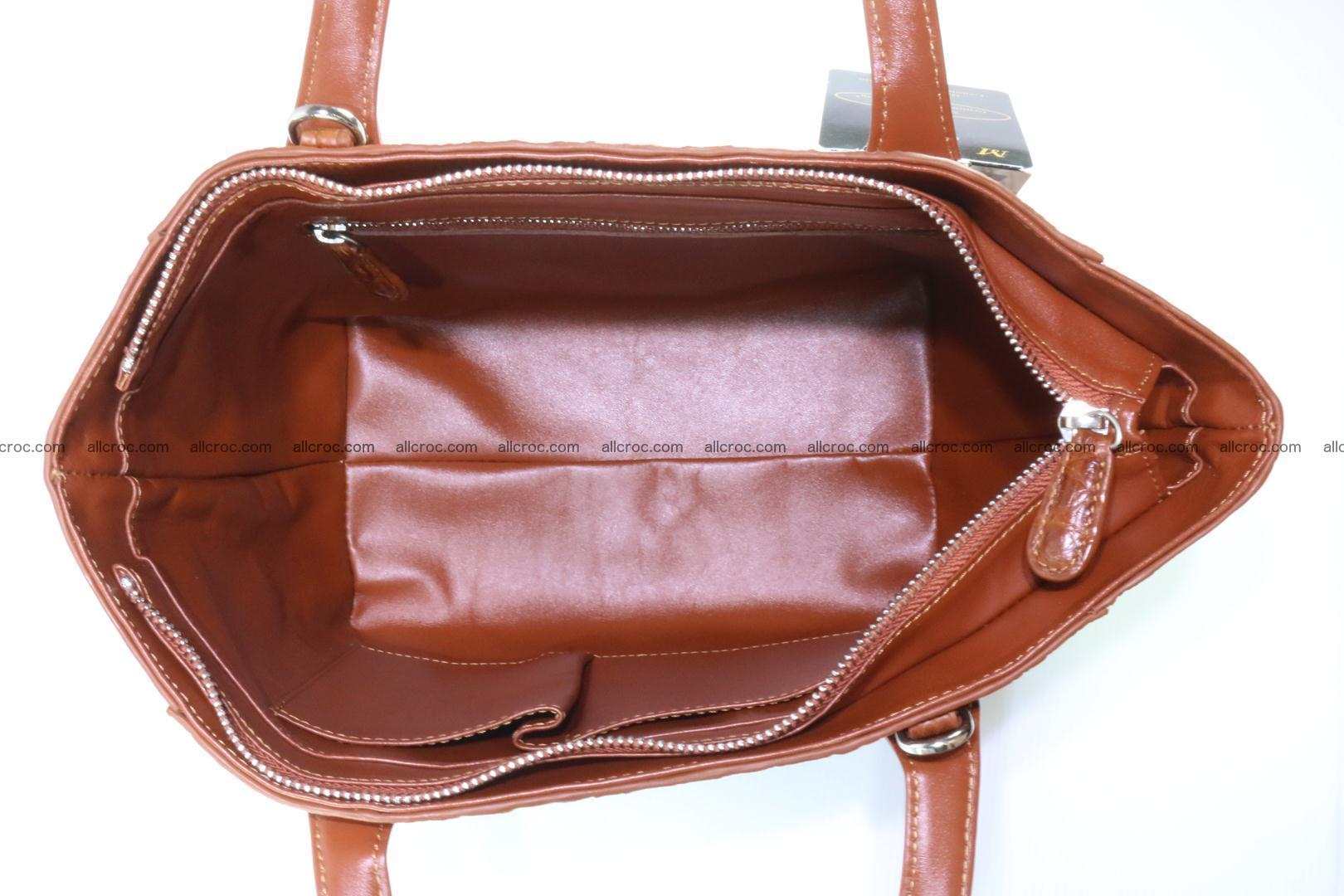 Genuine crocodile women's handbag 053 Foto 12