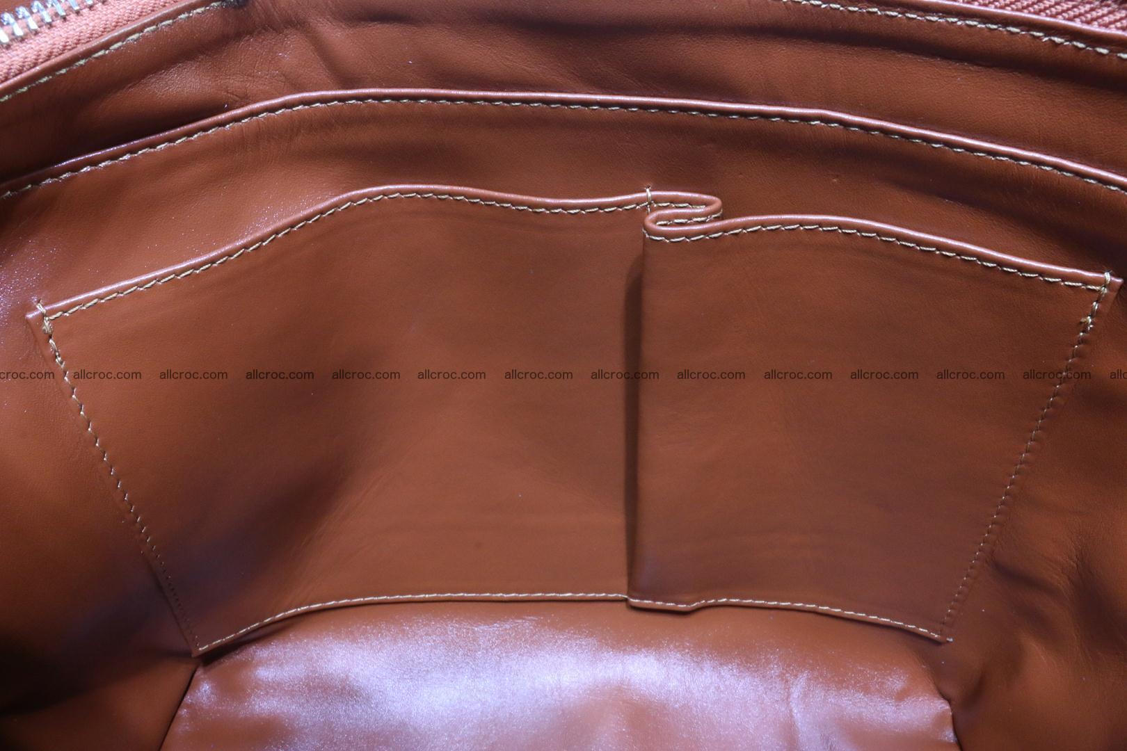 Genuine crocodile women's handbag 053 Foto 14
