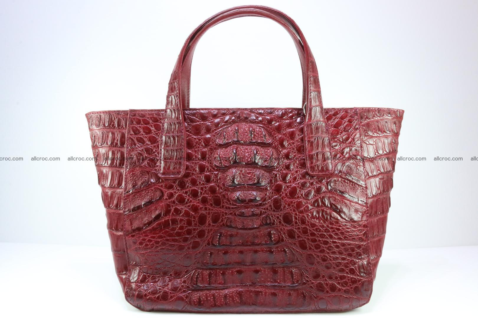Genuine crocodile women's handbag 054 Foto 0