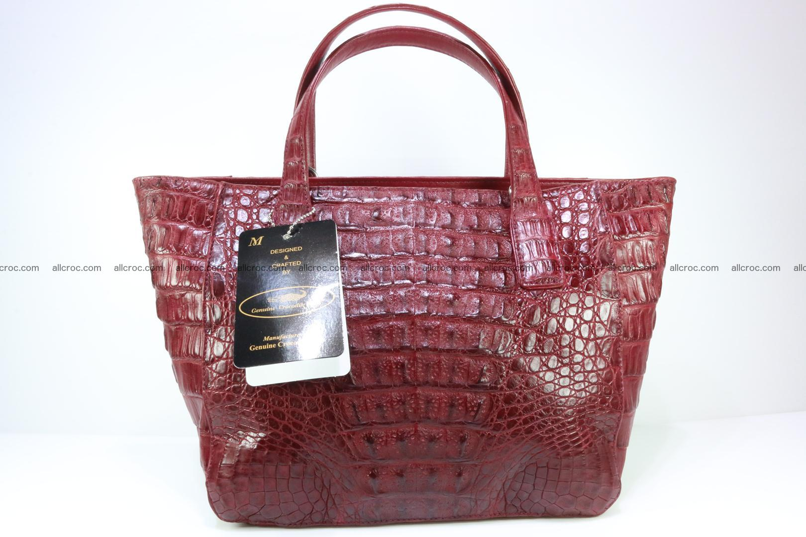 Genuine crocodile women's handbag 054 Foto 2