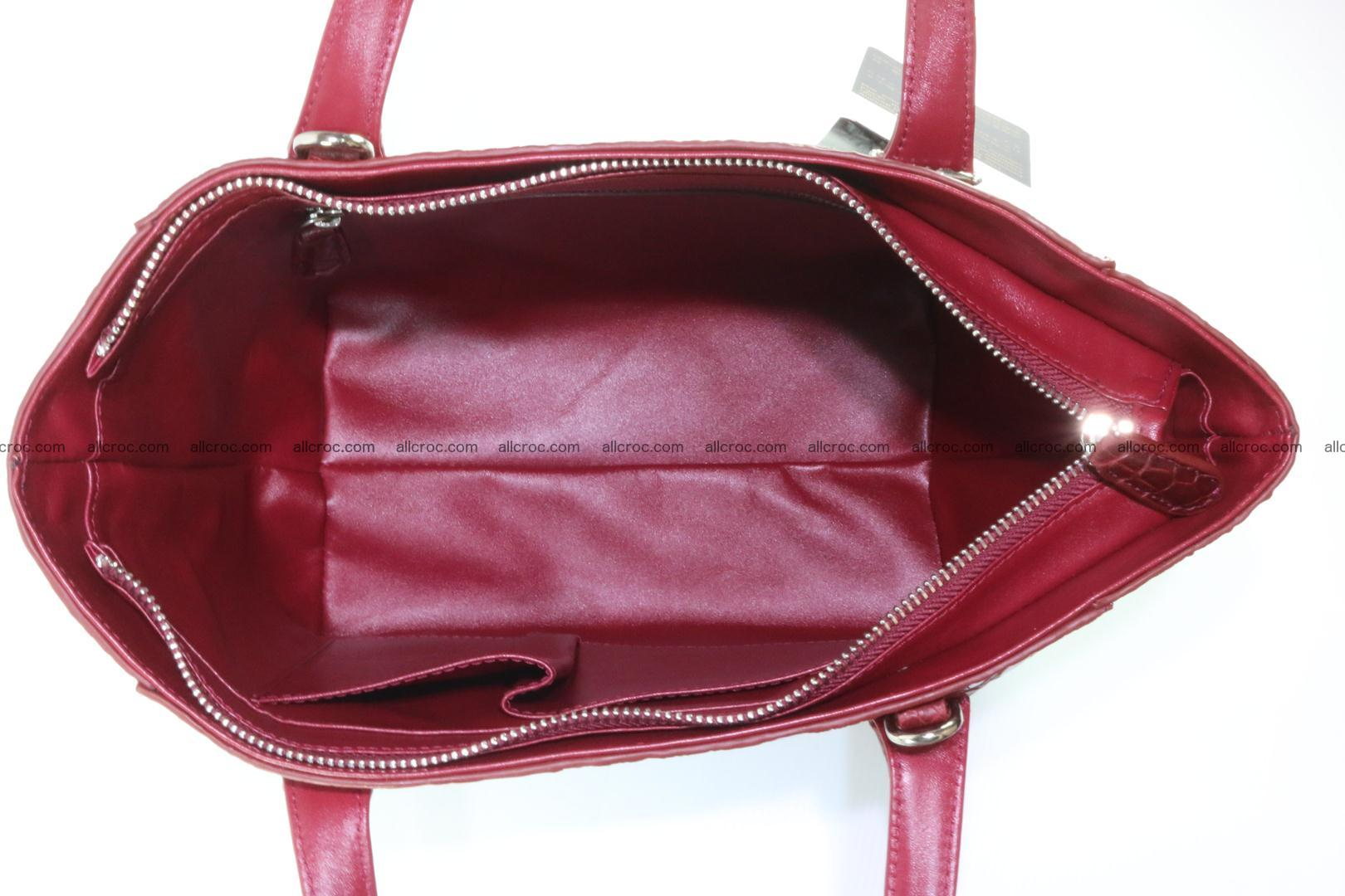 Genuine crocodile women's handbag 054 Foto 12