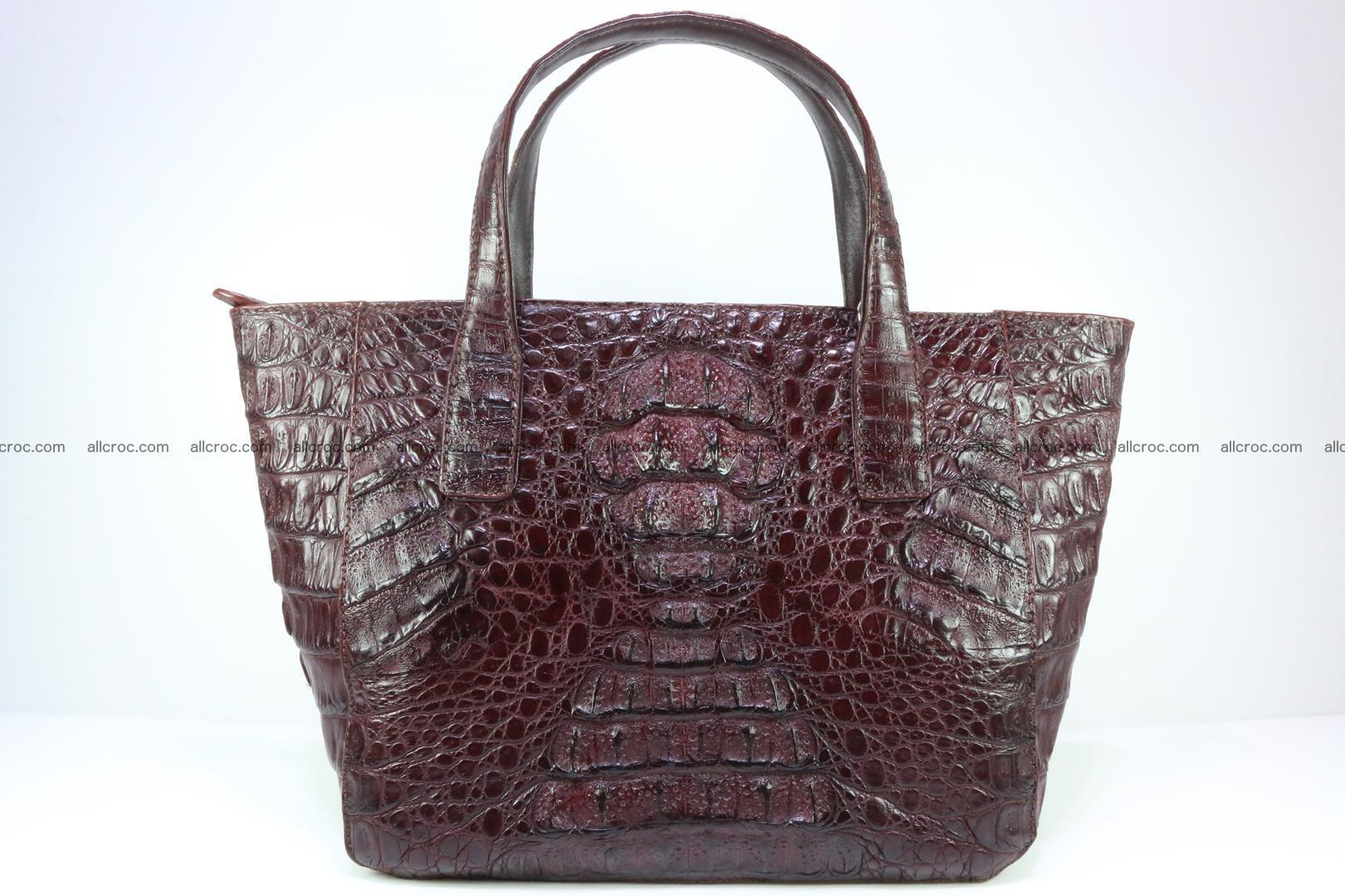 Genuine crocodile women's handbag 055 Foto 0