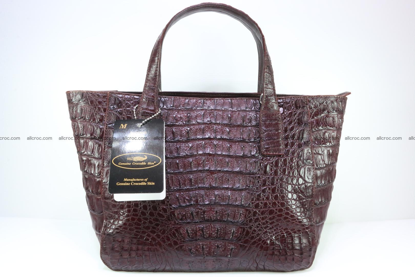Genuine crocodile women's handbag 055 Foto 1