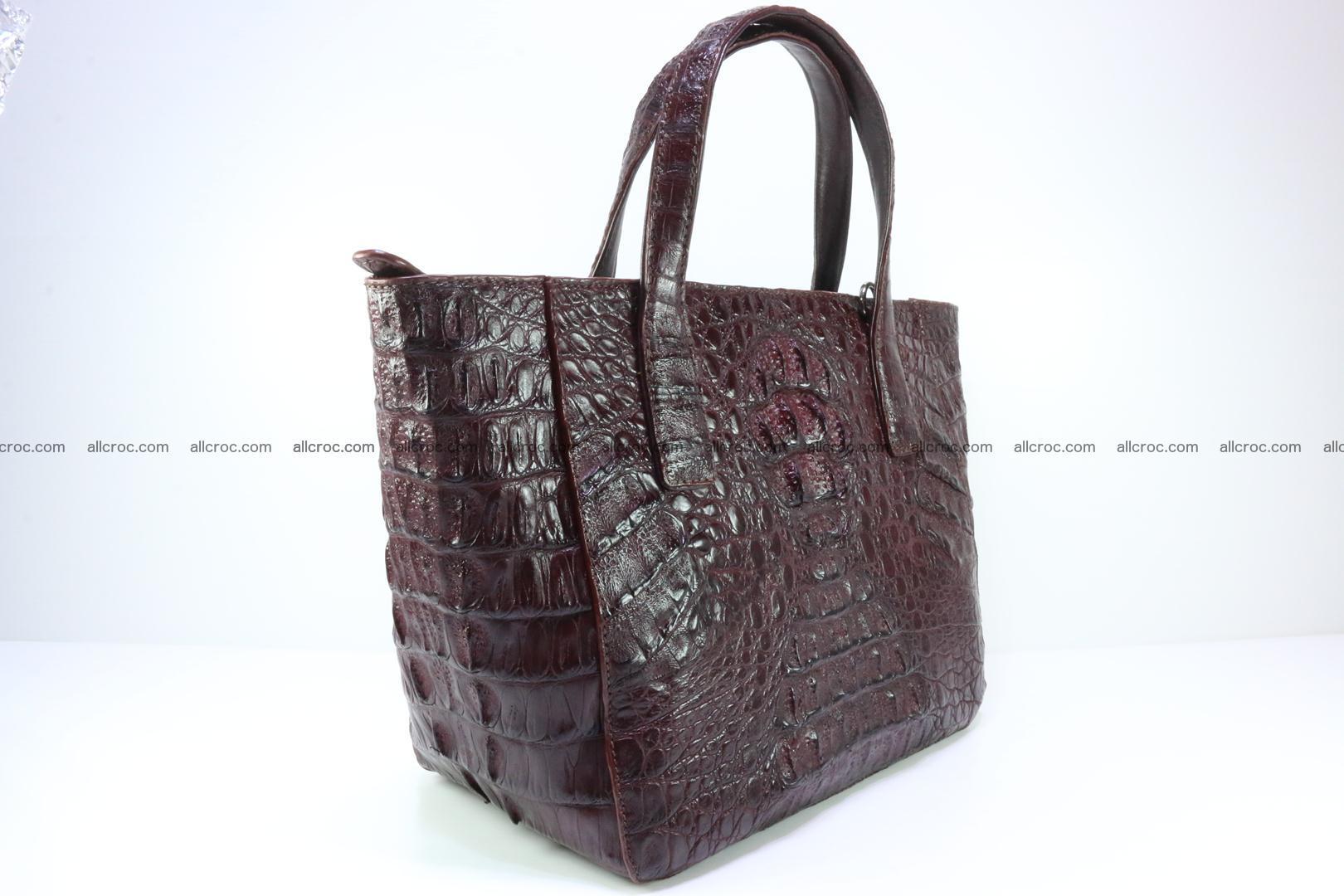 Genuine crocodile women's handbag 055 Foto 4