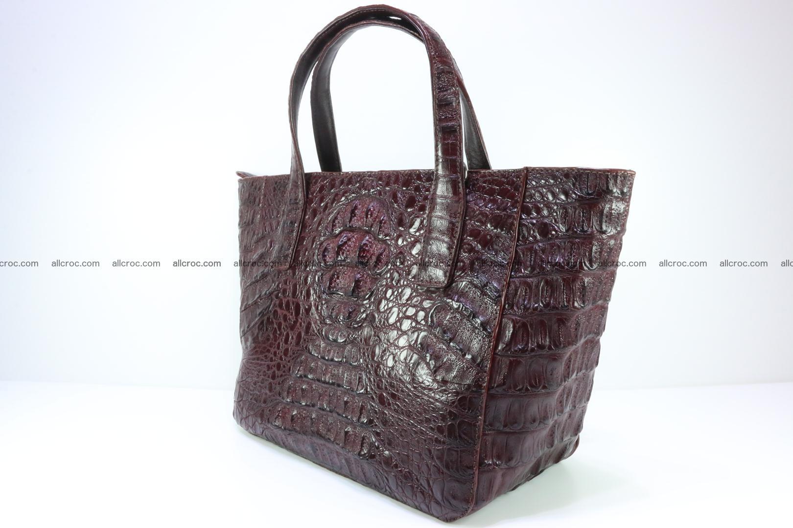 Genuine crocodile women's handbag 055 Foto 5