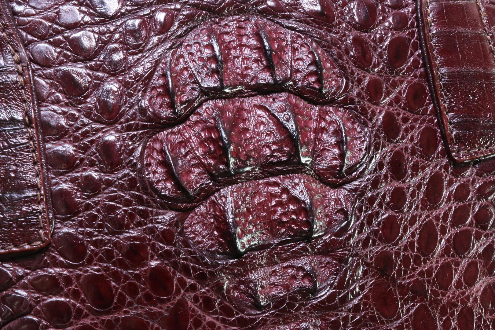 Genuine crocodile women's handbag 055 Foto 2