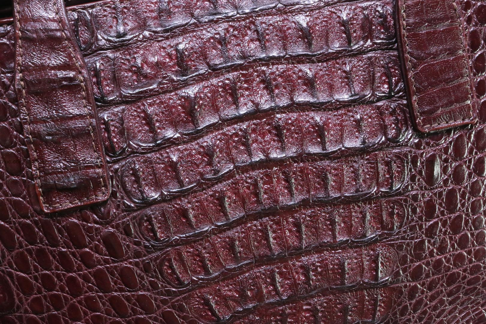 Genuine crocodile women's handbag 055 Foto 3