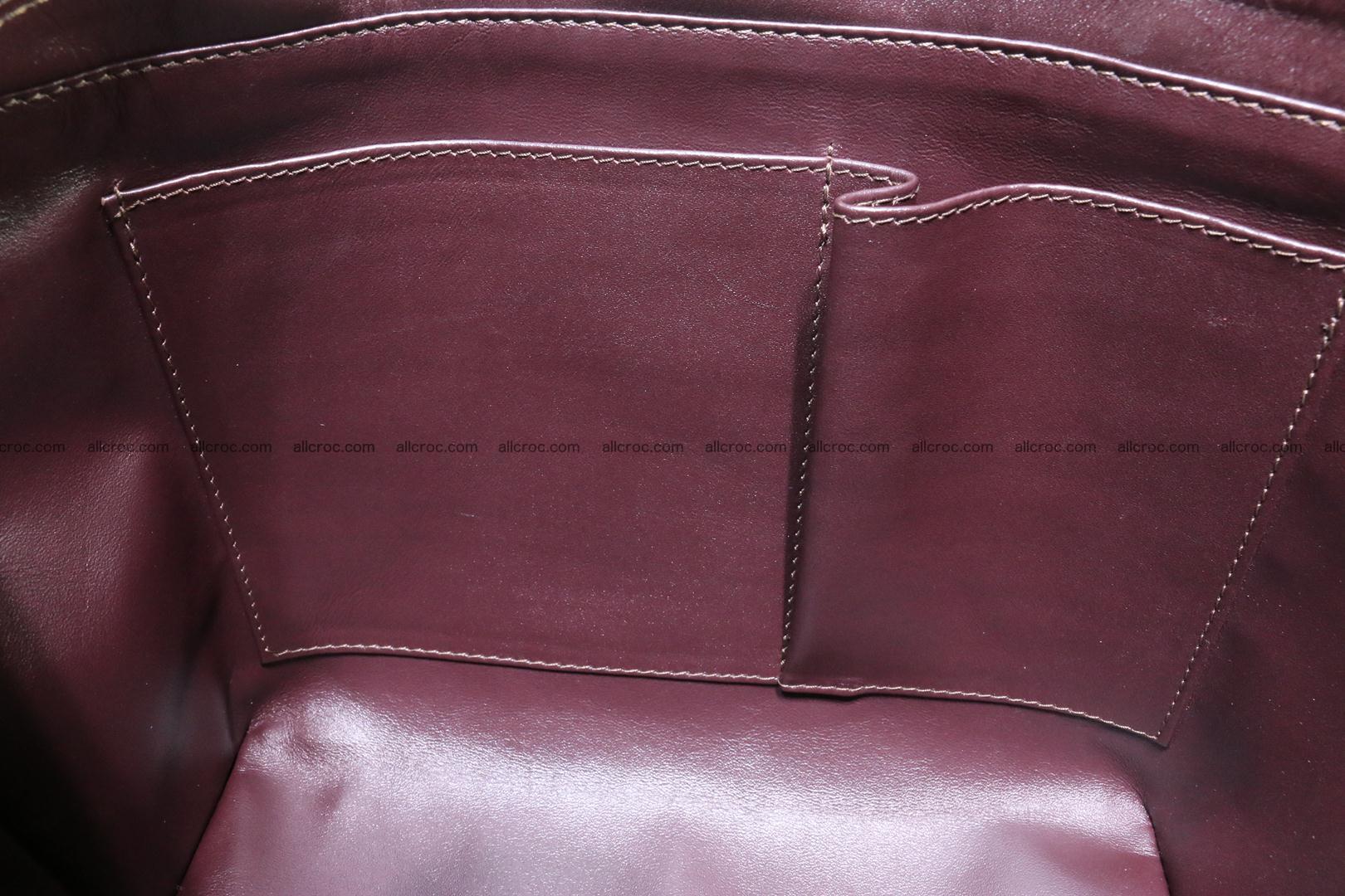 Genuine crocodile women's handbag 055 Foto 13