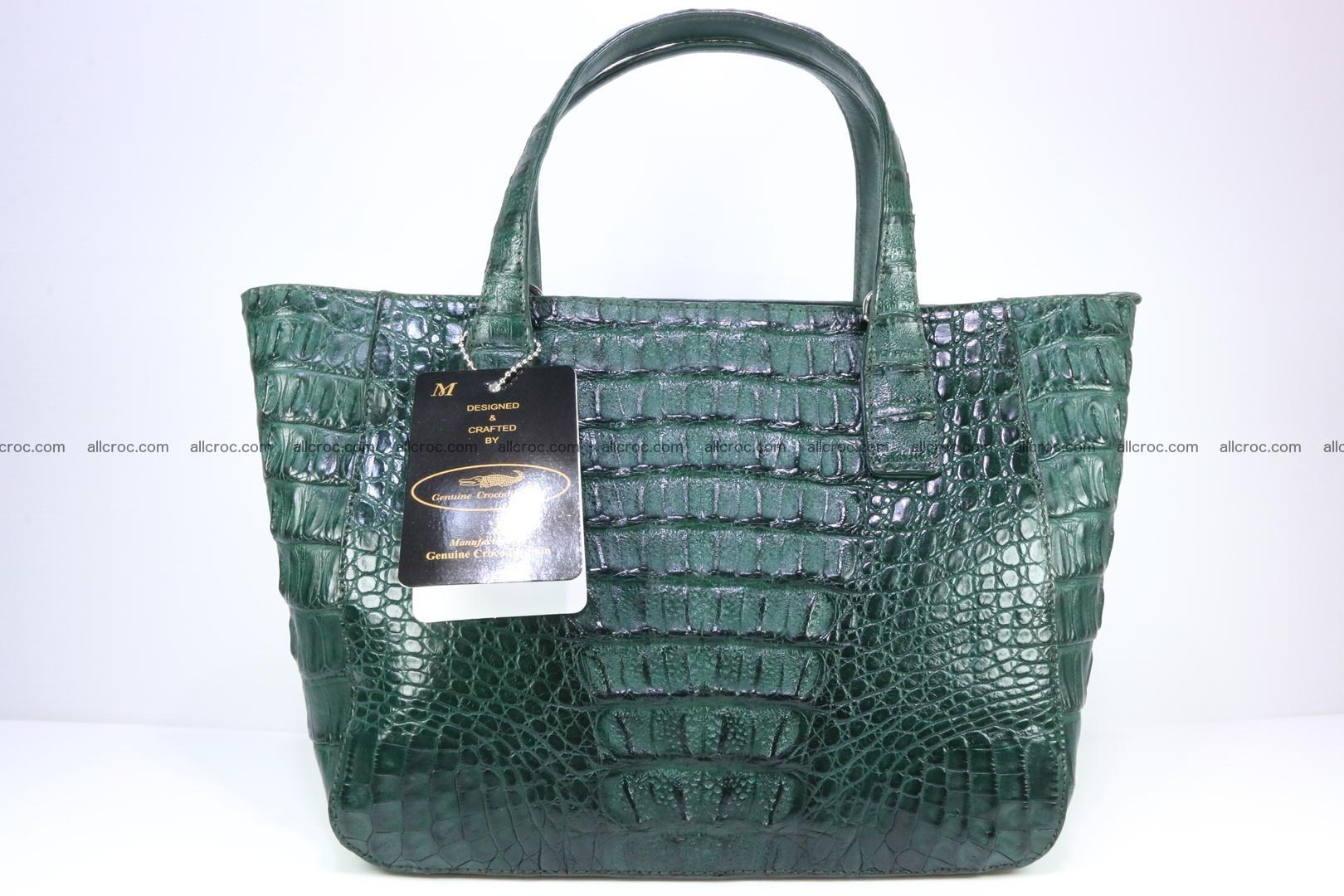 Genuine crocodile women's handbag 056 Foto 1
