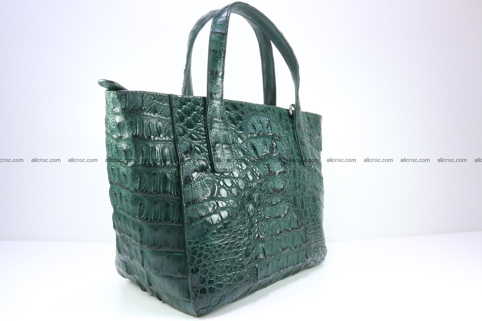Genuine crocodile women's handbag 056 Foto 2