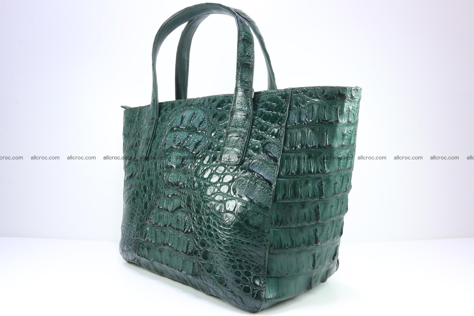 Genuine crocodile women's handbag 056 Foto 3