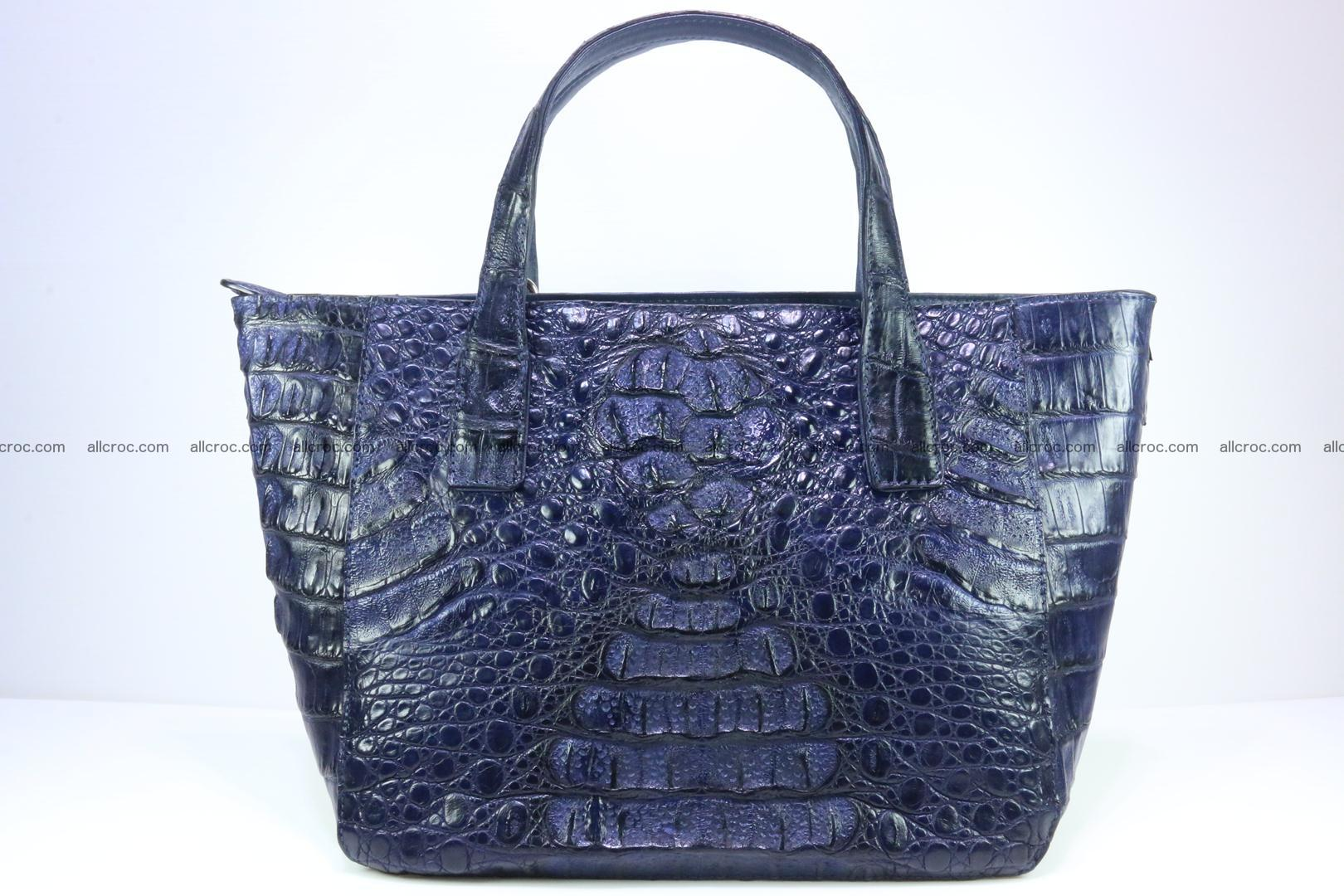 Genuine crocodile women's handbag 057 Foto 0
