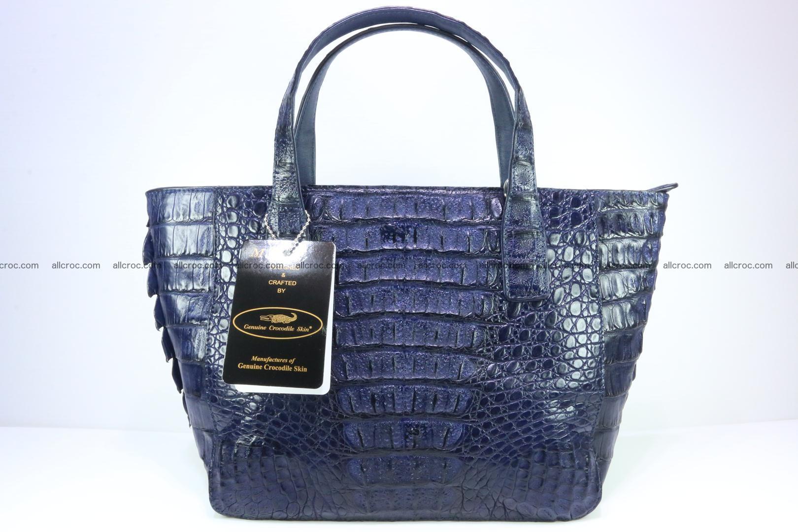 Genuine crocodile women's handbag 057 Foto 3
