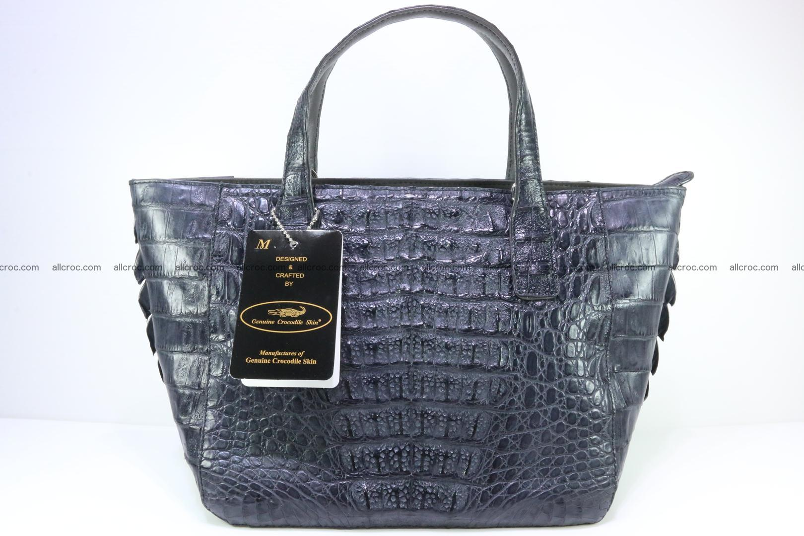 Genuine crocodile women's handbag 058 Foto 4