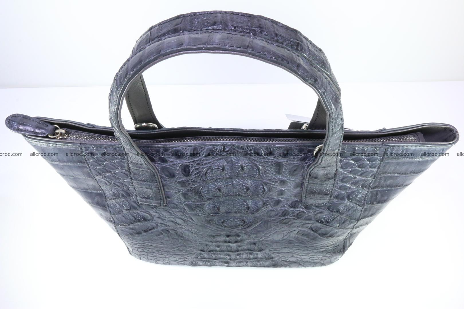 Genuine crocodile women's handbag 058 Foto 8