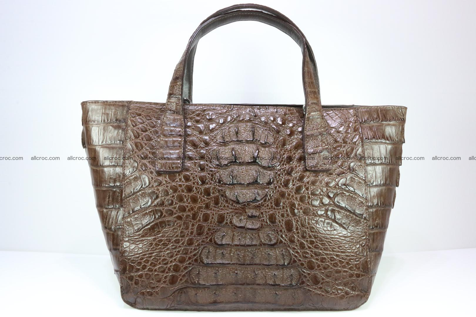 Genuine crocodile women's handbag 059 Foto 0