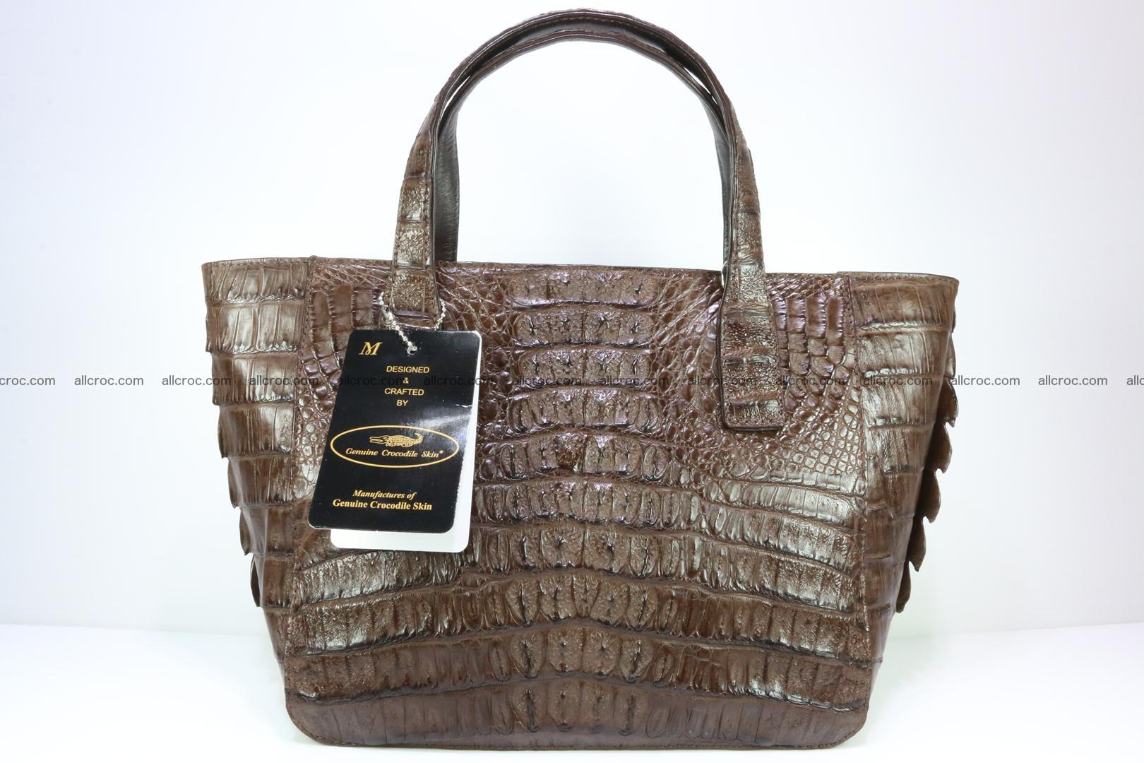 Genuine crocodile women's handbag 059 Foto 4