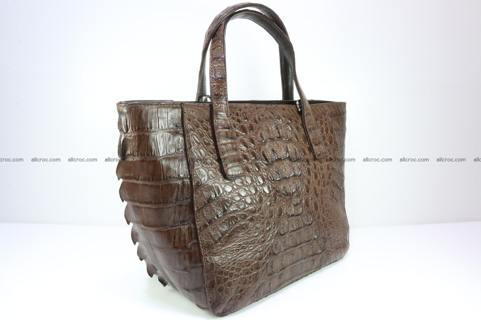 Genuine crocodile women's handbag 059 Foto 3