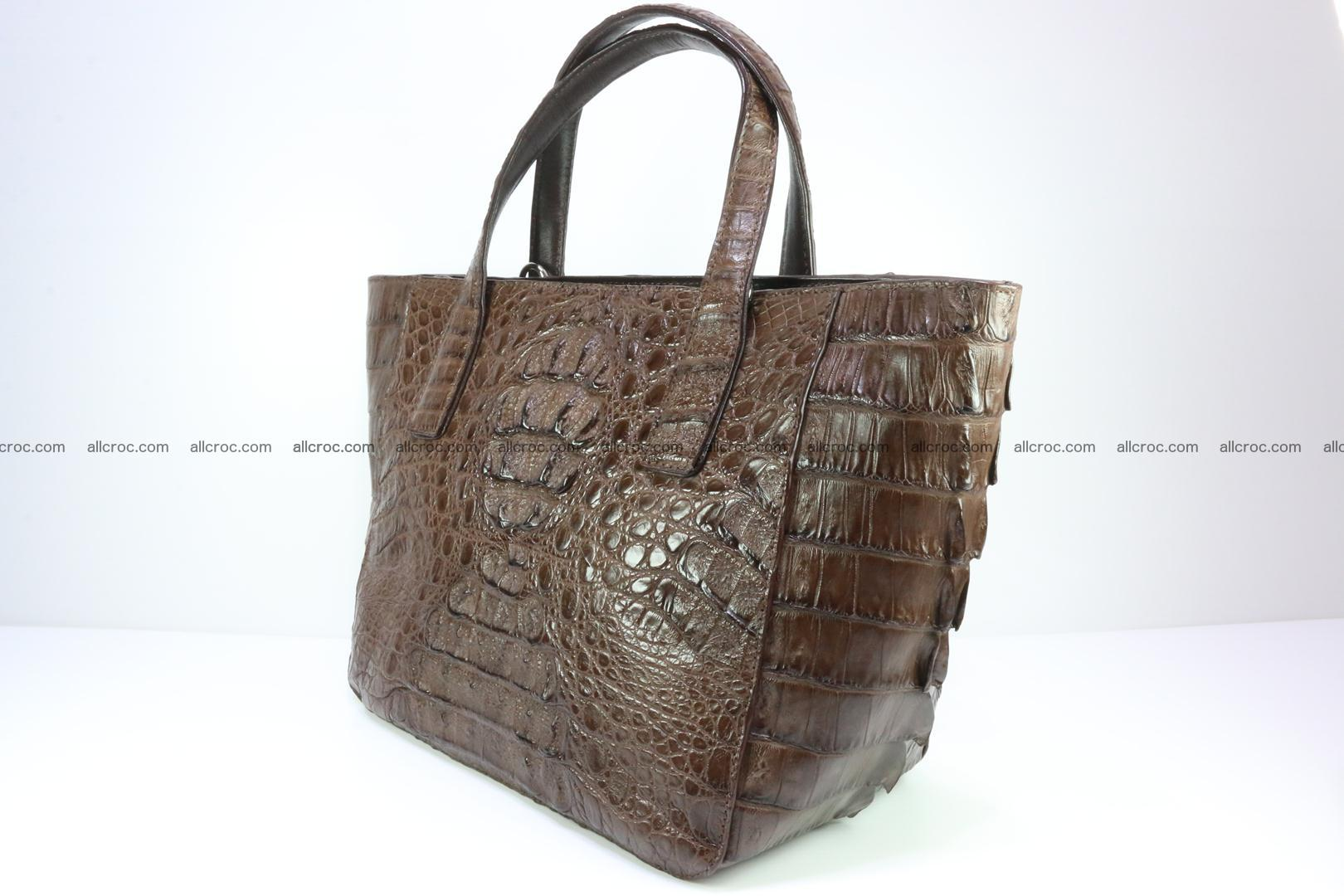 Genuine crocodile women's handbag 059 Foto 5