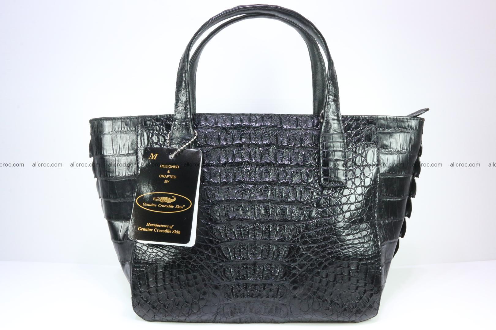 Genuine crocodile women's handbag 060 Foto 1