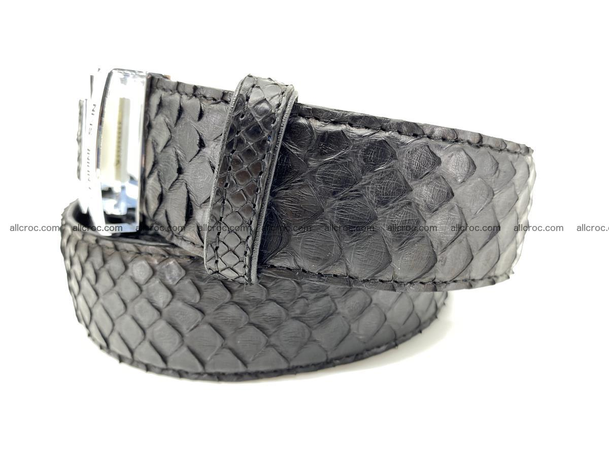 Python snake leather belt 697 Foto 1
