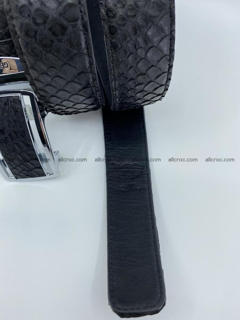 Python snake leather belt 697 Foto 9