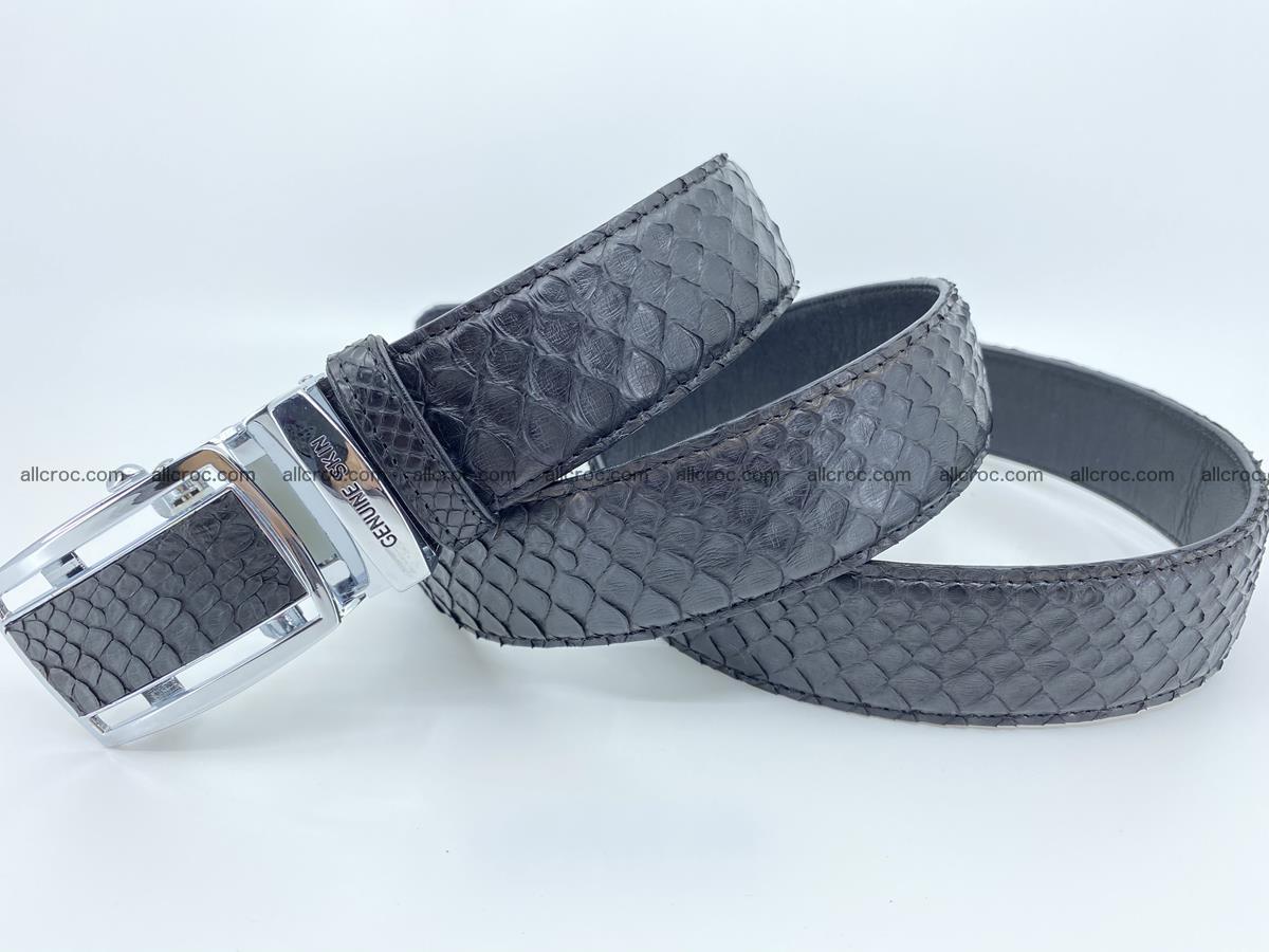 Python snake leather belt 697 Foto 7
