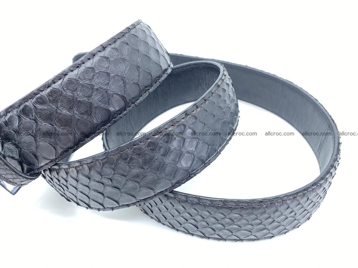 Python snake leather belt 697 Foto 8
