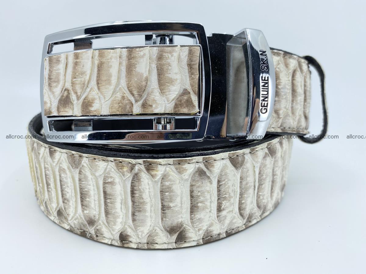 Python snake leather belt 701 Foto 0