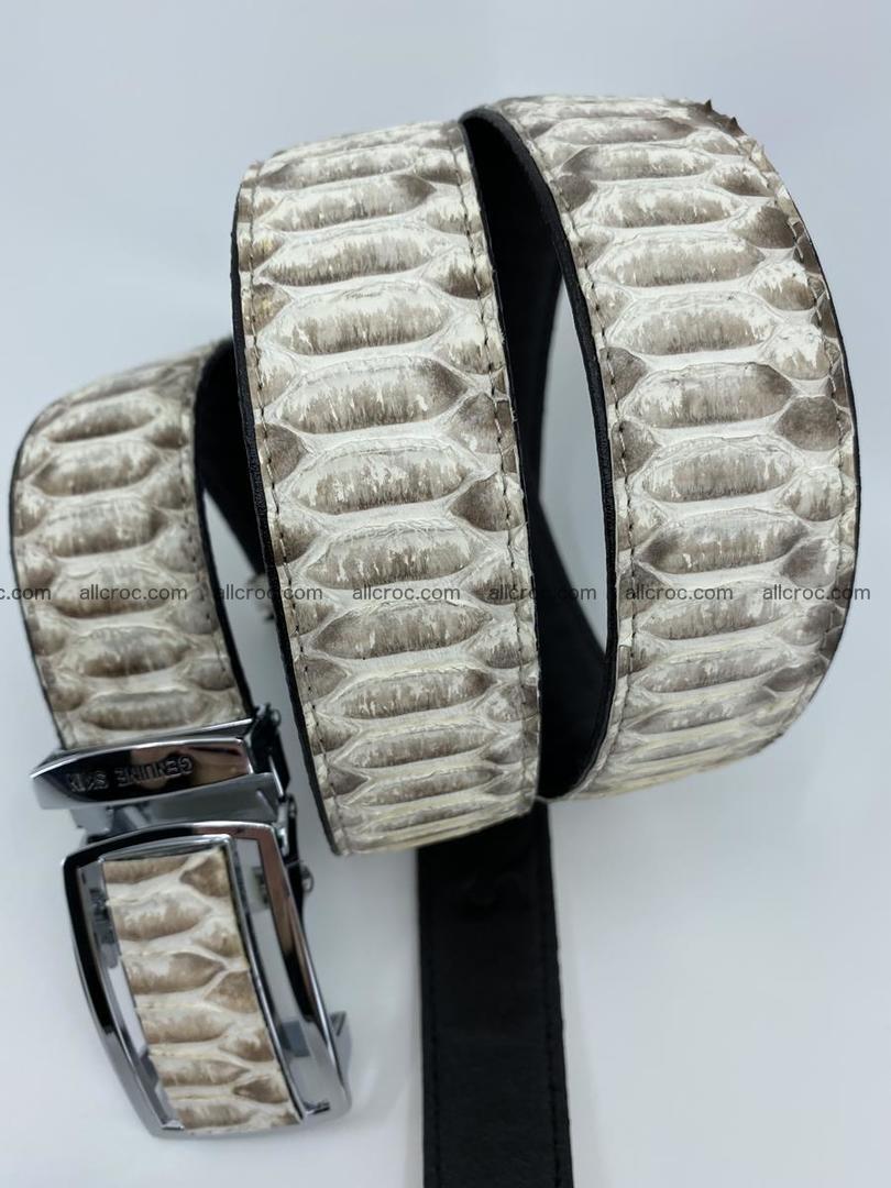 Python snake leather belt 701 Foto 10