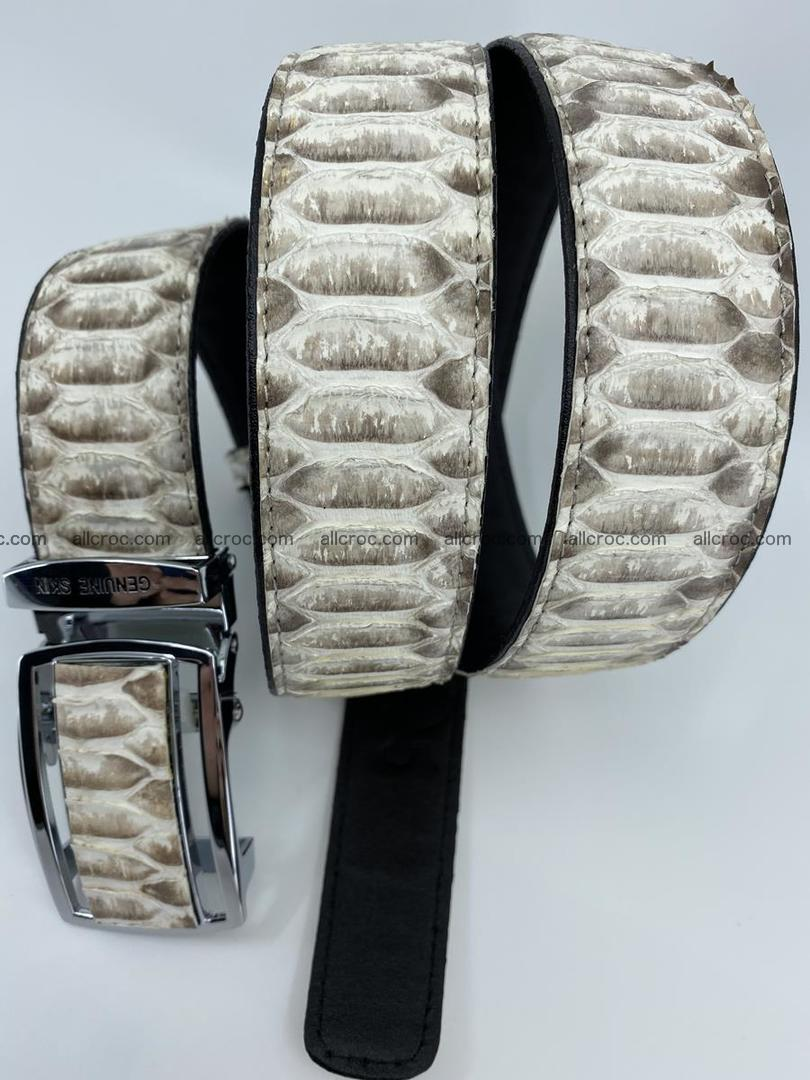 Python snake leather belt 701 Foto 11