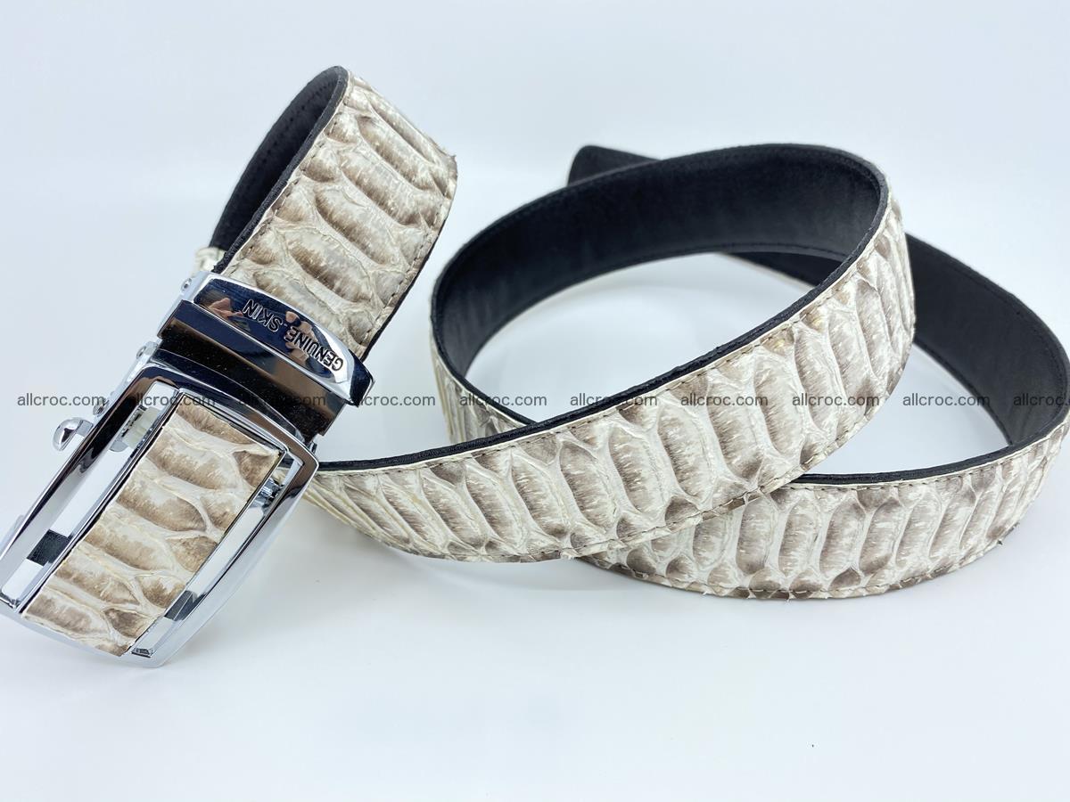 Python snake leather belt 701 Foto 12