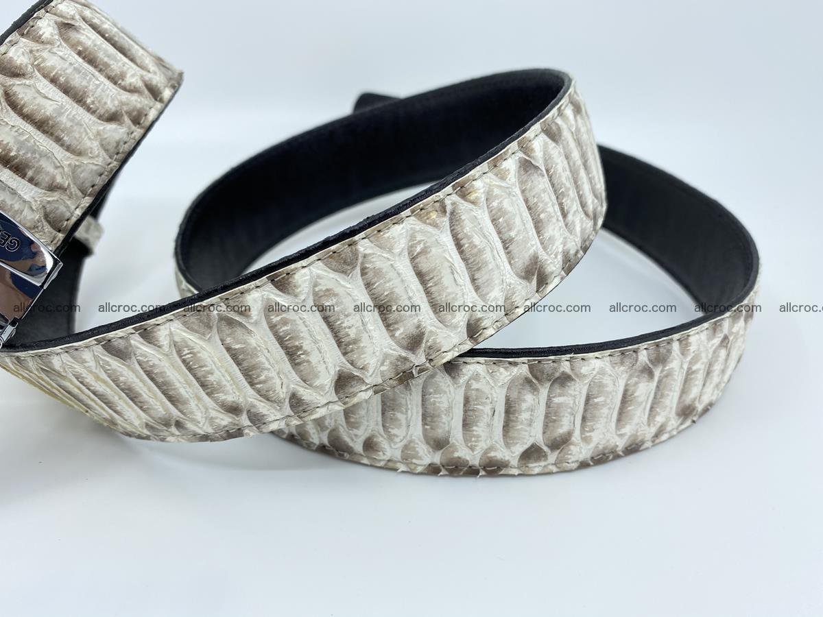 Python snake leather belt 701 Foto 13
