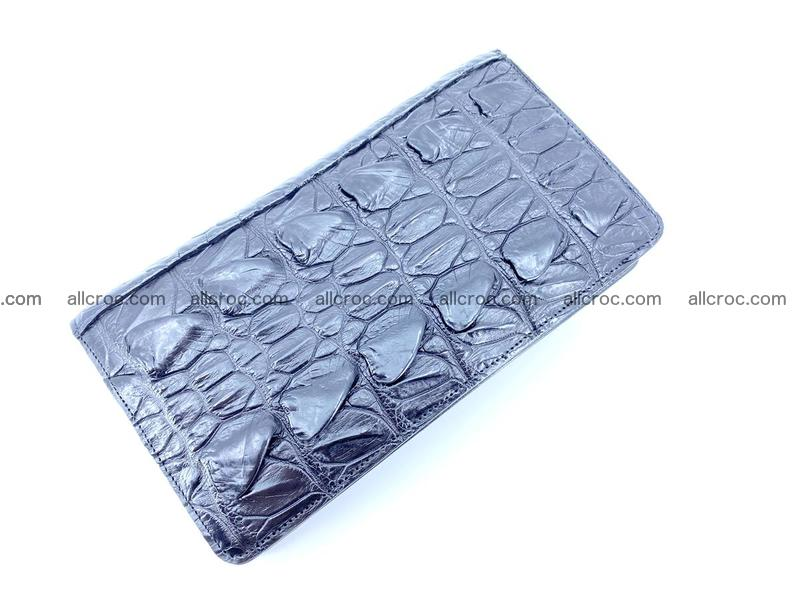 Crocodile leather wallet 1 zip 610