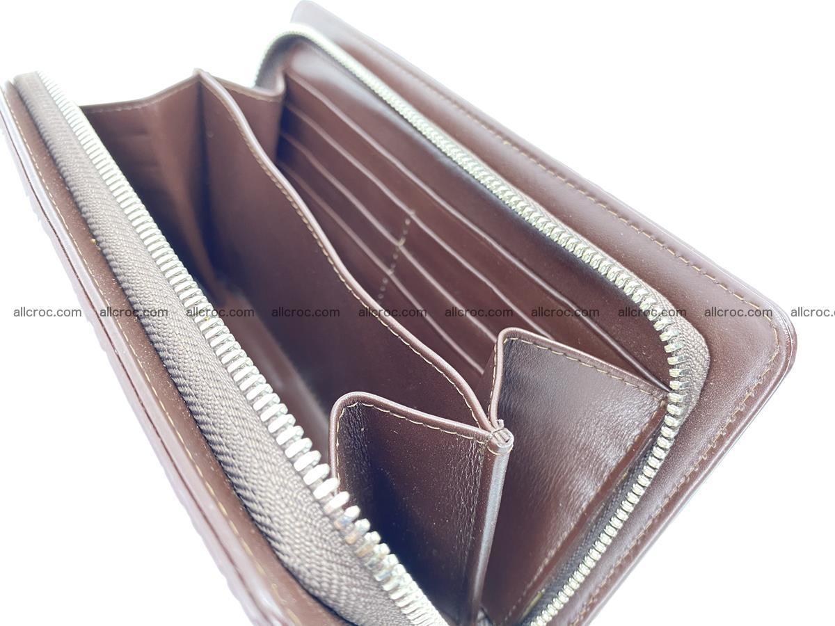 Crocodile skin wallet 1 zip 962 Foto 14