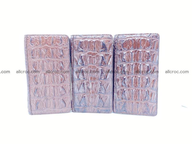 Crocodile skin wallet 1 zip 962