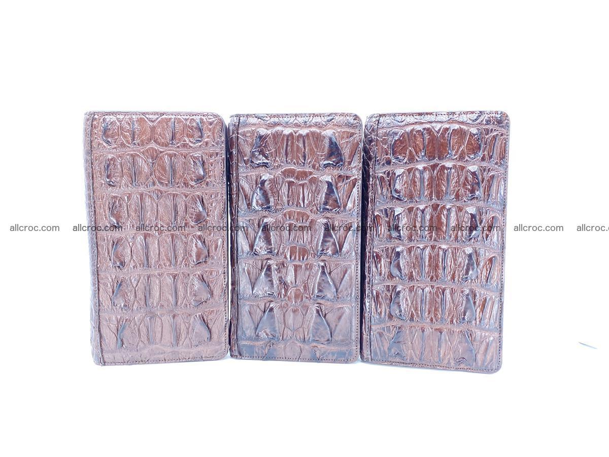 Crocodile skin wallet 1 zip 962 Foto 16