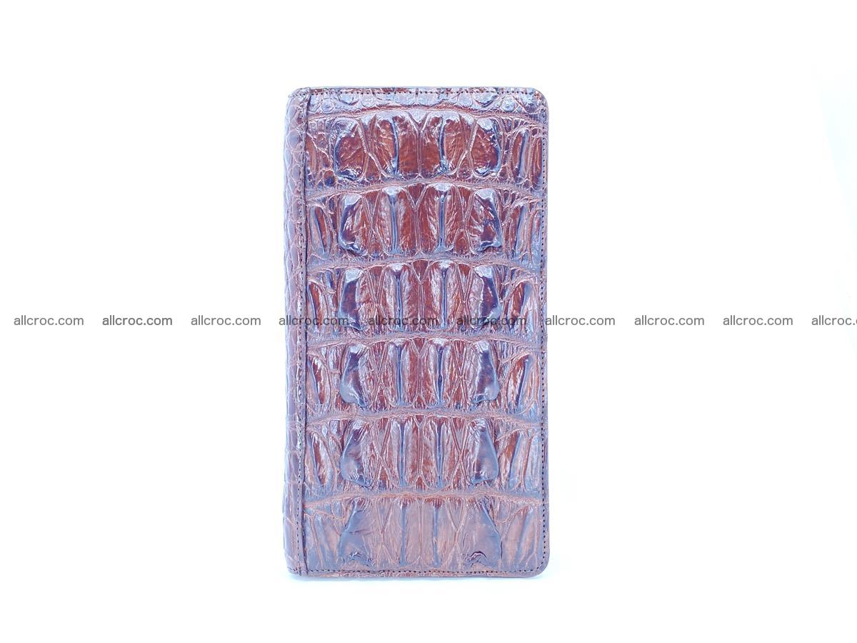 Crocodile skin wallet 1 zip 962 Foto 5