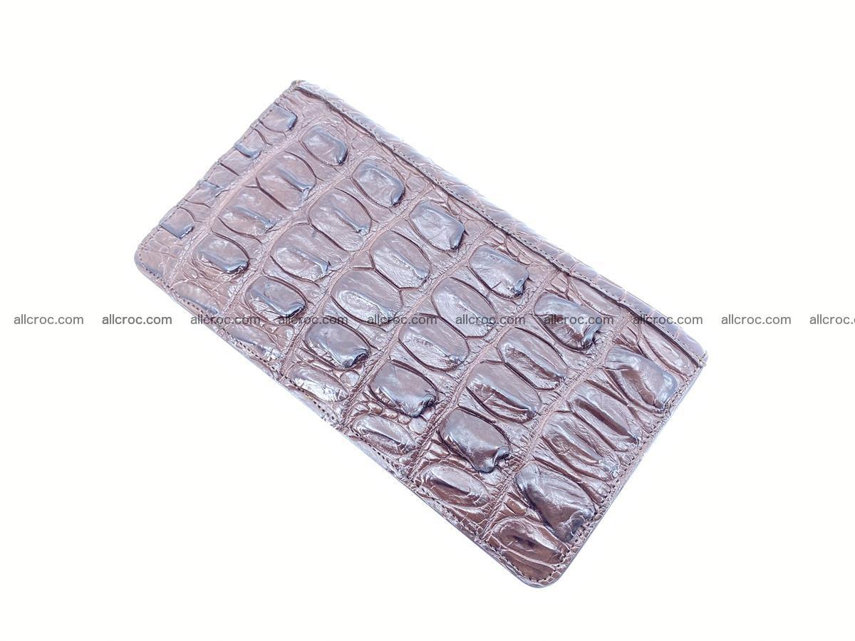 Crocodile skin wallet 1 zip 962 Foto 8
