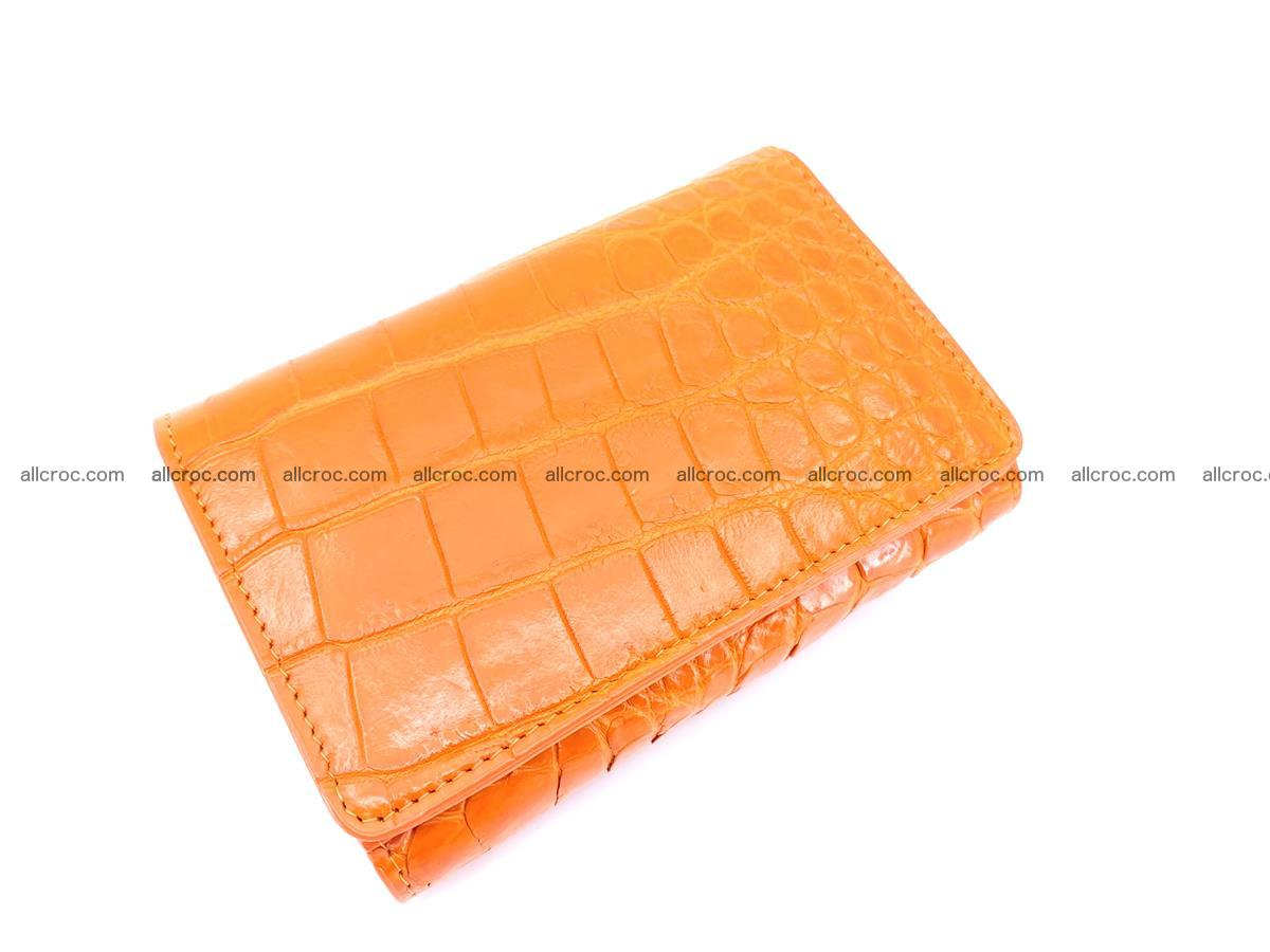 Genuine Siamese crocodile skin wallet for women 411 Foto 2
