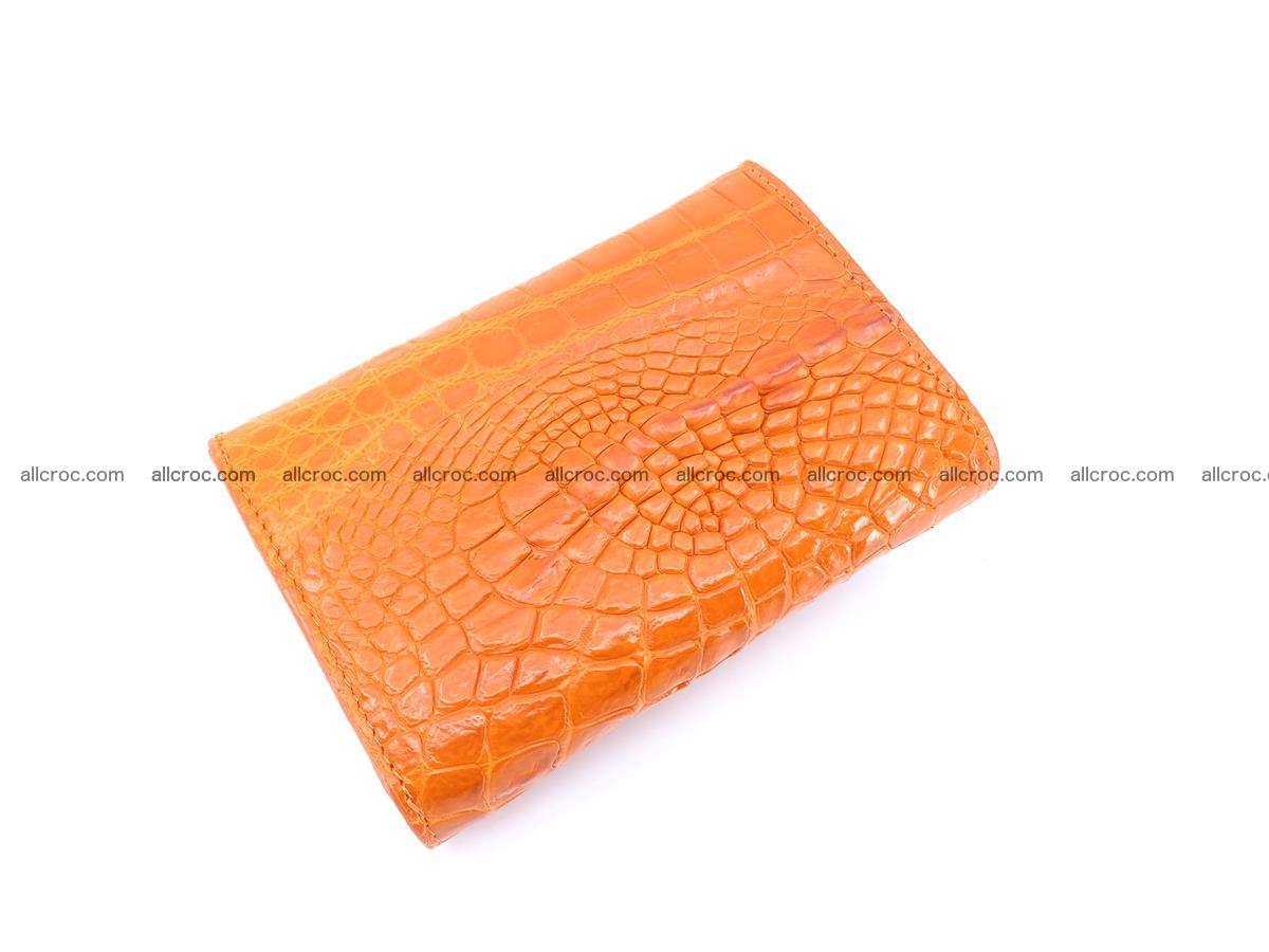 Genuine Siamese crocodile skin wallet for women 411 Foto 3