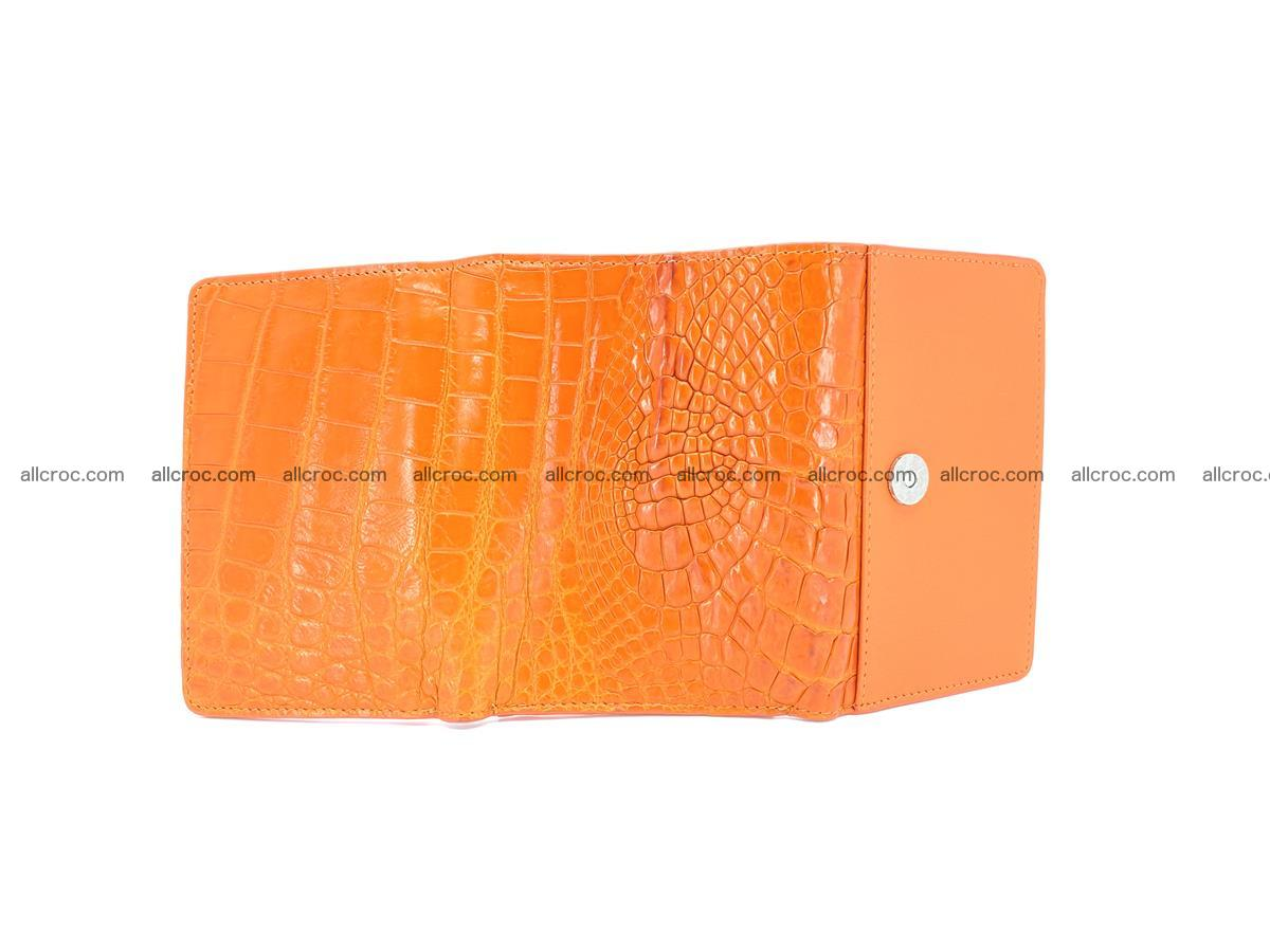 Genuine Siamese crocodile skin wallet for women 411 Foto 6