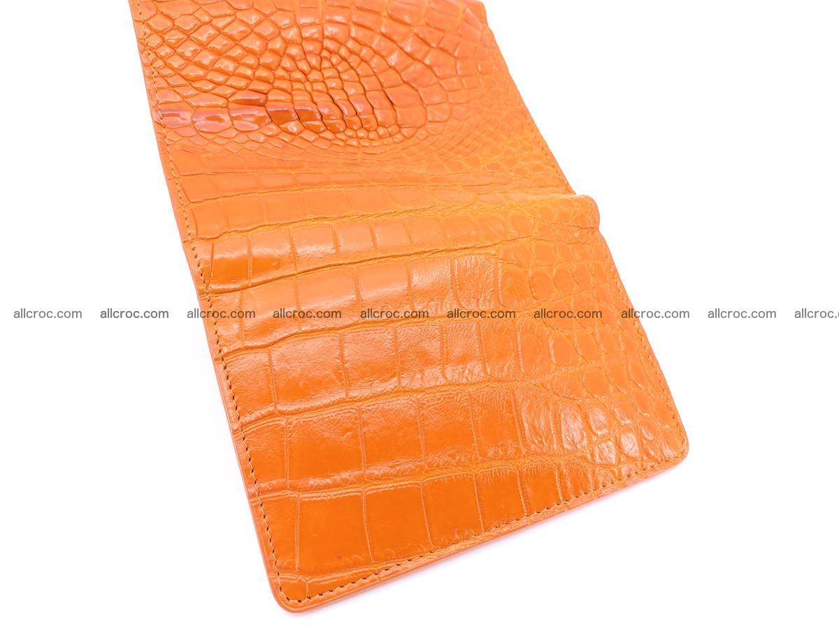 Genuine Siamese crocodile skin wallet for women 411 Foto 7