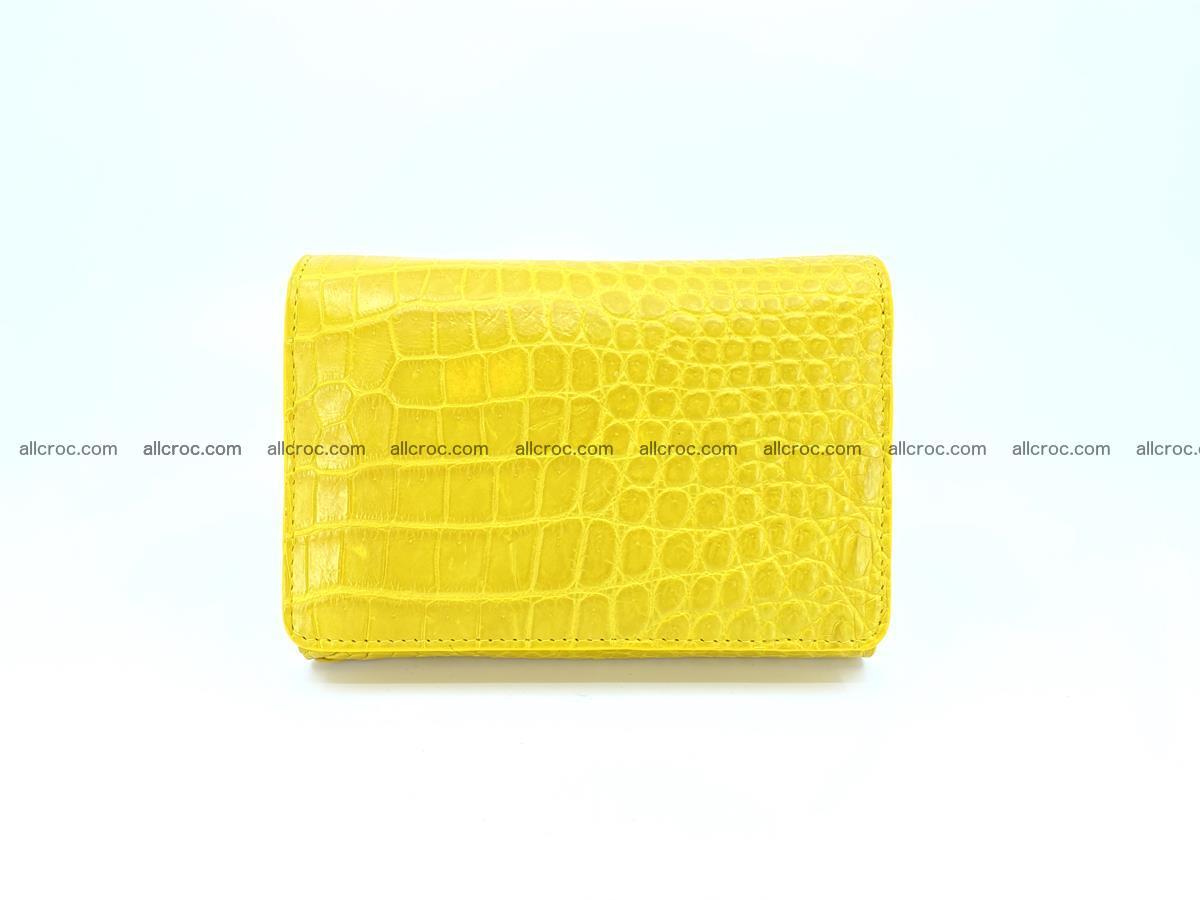 Genuine Siamese crocodile skin wallet for women 410 Foto 0