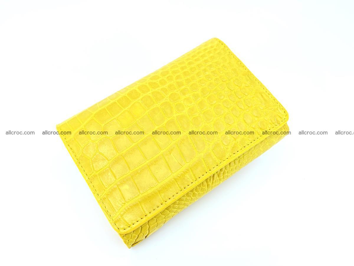 Genuine Siamese crocodile skin wallet for women 410 Foto 4