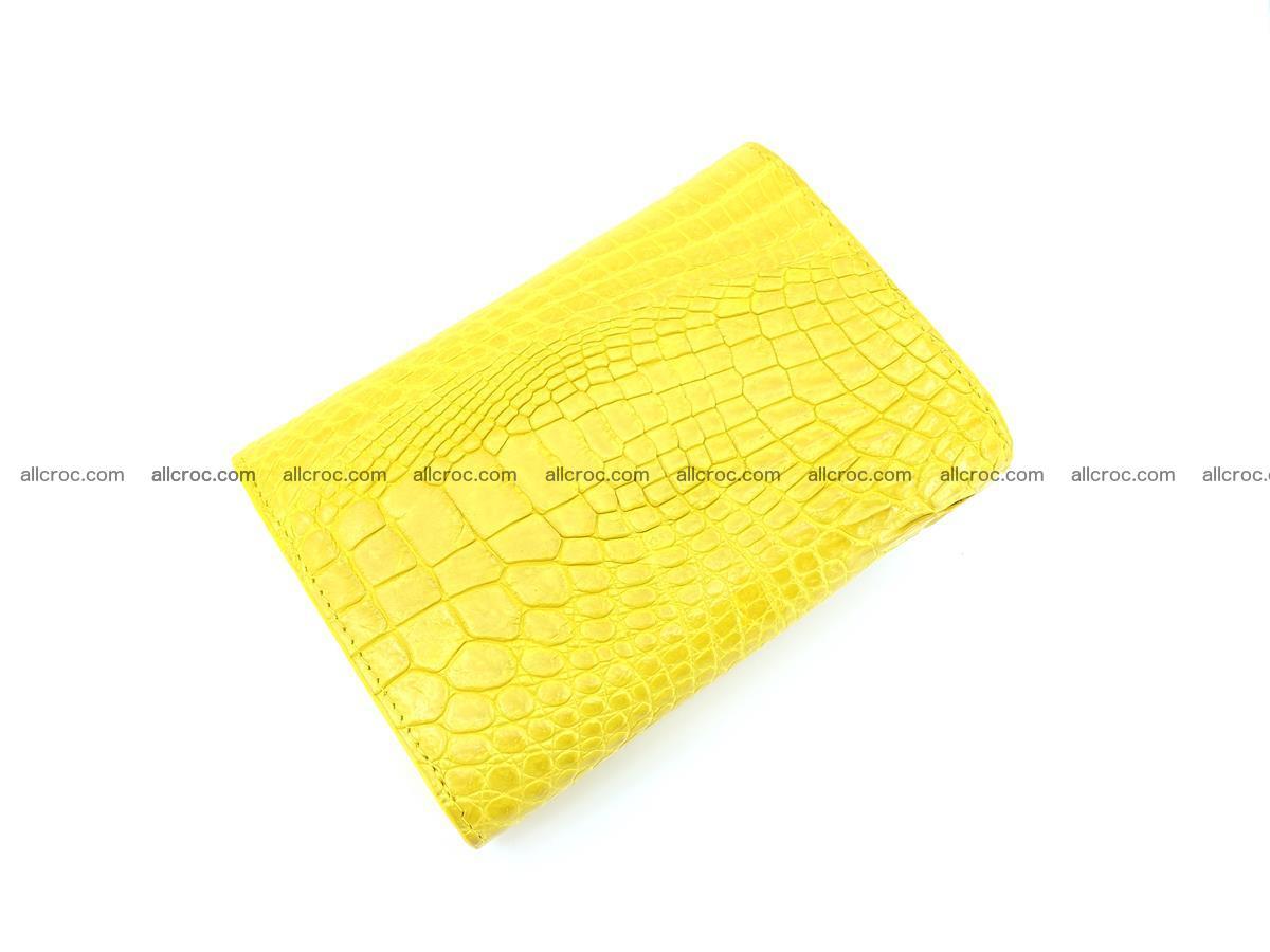Genuine Siamese crocodile skin wallet for women 410 Foto 5